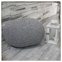 Úžitkový textil - Háčkovaný puff - 10750739_