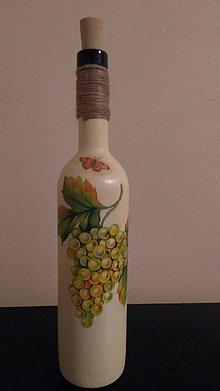 Nádoby - Fľaša decoupage - 10750749_