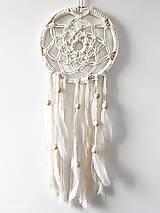 Dekorácie - Makramé lapač snov Freya - 10751591_