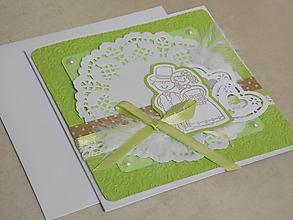 Papiernictvo - ...pohľadnica svadobná... - 10749112_