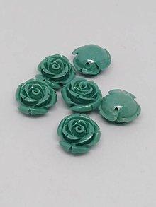 Korálky - Ružičky  (Tmavá tyrkysová) - 10750535_