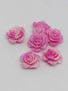 Korálky - Ružičky  (Ružová melír) - 10750536_