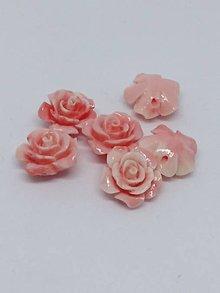 Korálky - Ružičky  (Lososová melír) - 10750538_