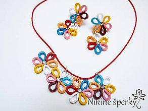 Sady šperkov - Farebné kvietky - 10749692_