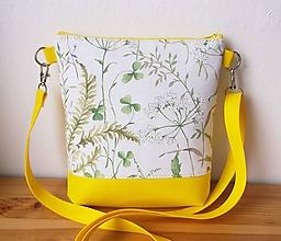 Kabelky - Lúčne kvety/citrón - 10750648_