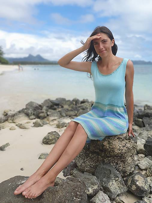 Šaty - Vypredaj -Voľné bambusové šaty - 10748749_