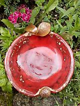 Nádoby - Miska červená - jabľčko - 10750043_