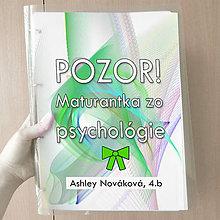 Papiernictvo - Pozor! Maturantka zo psychológie - zakladač (4) - 10749401_