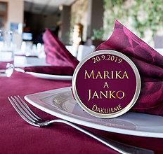 Darčeky pre svadobčanov - Svadobná magnetka - 10751744_