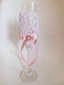 Nádoby - Svadobné poháre Romantic - 10752338_