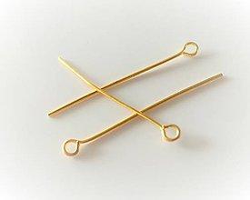 Komponenty - Keltovacia ihla s ockom (26mm - Zlatá) - 10752480_