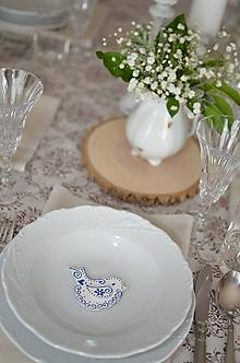 Darčeky pre svadobčanov - Bielo modré vtáčiky ako darčeky - 10753323_