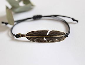 """Náramky - náramok """"bohemia feather"""" (Čierna) - 10752486_"""