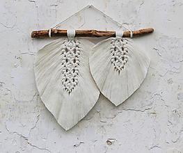 Dekorácie - makramé listy