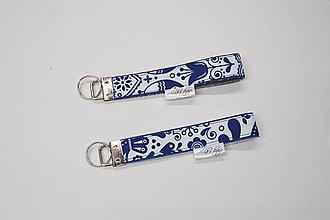 Kľúčenky - Kľúčenka modrá folk - 10754243_
