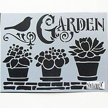 Pomôcky/Nástroje - Šablóna Stamperia - 15x20 cm - garden, vtáčik, záhrada - 10751806_