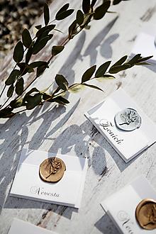 Papiernictvo - Svadobné menovky Pečať - 10753950_