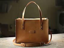 Nákupné tašky - Kožená taška Klára - 10754567_