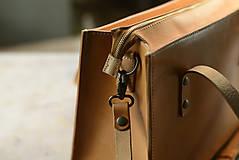 Nákupné tašky - Kožená taška Klára - 10754568_