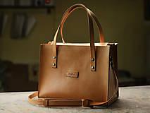 Nákupné tašky - Kožená taška Klára - 10754569_