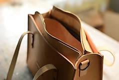 Nákupné tašky - Kožená taška Klára - 10754571_