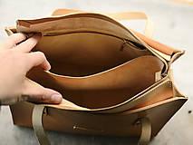 Nákupné tašky - Kožená taška Klára - 10754572_
