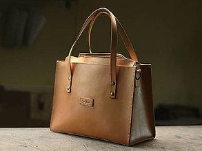 Nákupné tašky - Kožená taška Klára - 10754573_