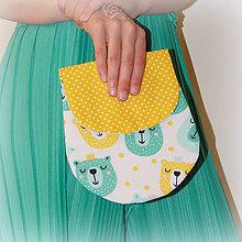 Detské tašky - MiMi taštičky  - mentol / citrón - 10753607_