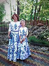 """Šaty - FLORAL FOLK """" Slovenská ornamentika """", spoločenské dlhé šaty pre maminku a dcéru - 10753236_"""