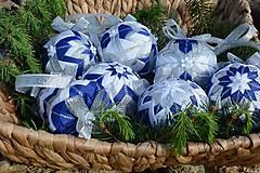 Dekorácie - Patchworkové gule - Modrý - 10752770_