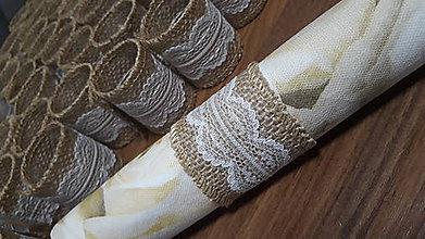 Úžitkový textil - Jutové krúžky na servítky - 10752332_