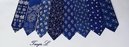 "Doplnky - kravata folk ""modrotlač"" rôzne varianty - 10753429_"