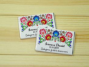 Darčeky pre svadobčanov - Maxi čokoládky Folk - 10754737_