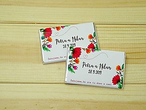 Darčeky pre svadobčanov - Maxi čokoládky Flores - 10754798_