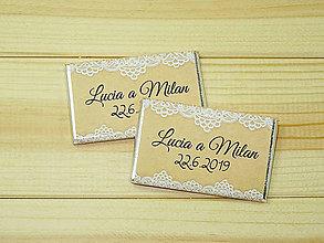 Darčeky pre svadobčanov - Maxi čokoládky Natur - 10754855_