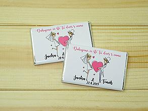 Darčeky pre svadobčanov - Maxi čokoládky Postavičky - 10754888_