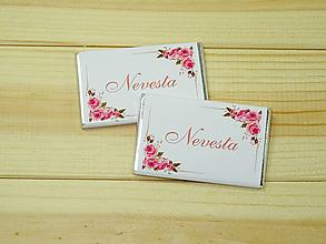 Darčeky pre svadobčanov - Maxi čokoládky Menovky - 10754909_