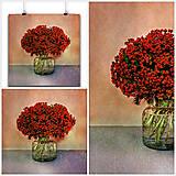 Obrazy - MLIEČNIK kytica fotoplátno 60x60 cm - 10752168_