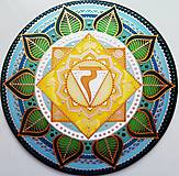 Dekorácie - Mandala Solar plexu, zdravie a uzdravenie - 10752574_