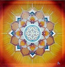 Obrazy - Mandala radosti a šťastného bytia - 10752545_
