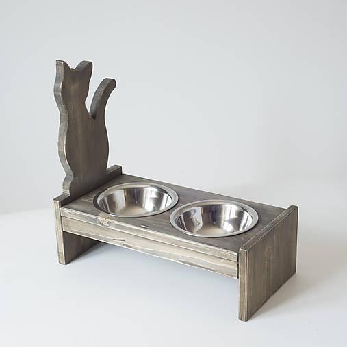 Stolík na misky pre mačičky
