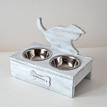 Pre zvieratká - Stolík na misky pre mačičky (Hnedá) - 10752905_