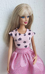 Hračky - Tričko s lienkami pre Barbie - 10753368_