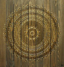 Obrazy - HARMÓNIA A RELAX (drevo + gold) 60 x 60 - 10753209_