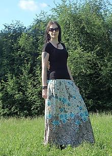 Sukne - Maxisukně s květy - 10751878_