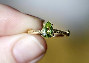 Prstene - ZÁKAZKA Vetvičkový s morganitom v ružovom zlatě zlatě - 10751632_