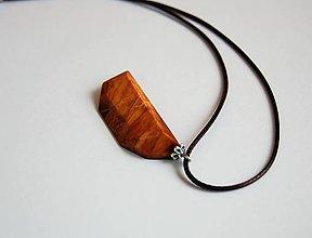 Náhrdelníky - Drevený náhrdelnik - Z červeného smreku - 10753705_