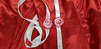Náramky - Bielo-ružový svadobný kvetinový náramok - 10753035_