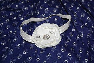 Detské doplnky - Biela čelenka na krst - 10754231_