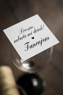 "Papiernictvo - ""Neberte mi môj drink"" - Kartička k pohárom - 10753866_"